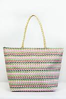 Пляжная сумка кремовая