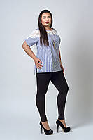 Кофточка мод 520-1 размер 52,54,56 синяя полоска