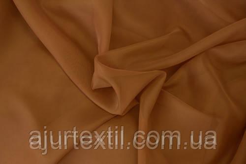 Вуаль однотонный светло коричневый