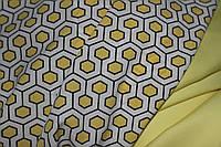 Ткань супер софт соты желтые, фото 1