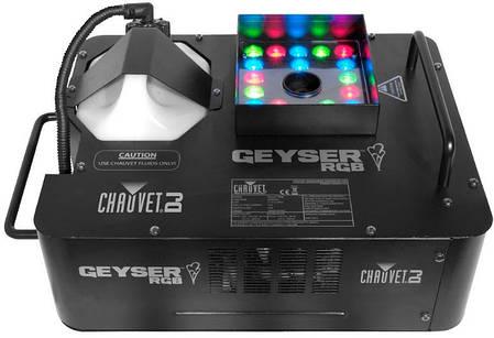 Прибор, сочетающий в себе дым машину и светодиодную заливку CHAUVET Geyser RGB, фото 2