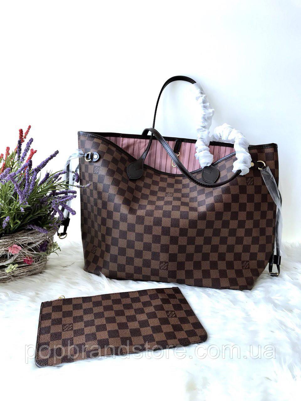 914c1262b77f Популярная сумка Louis Vuitton Neverfull 32 cм натуральная кожа (реплика)