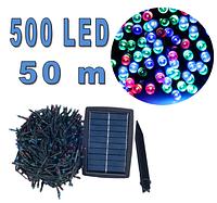 Светодиодная гирлянда на солнечной энергии 500 led RGB 50м, фото 1