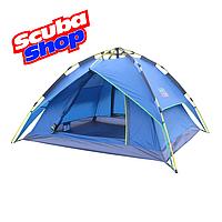 Палатка трехместная Green Camp 1831, двухслойная (размеры 225х190х130 см), фото 1