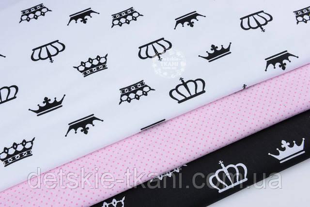 ткань с черными коронами