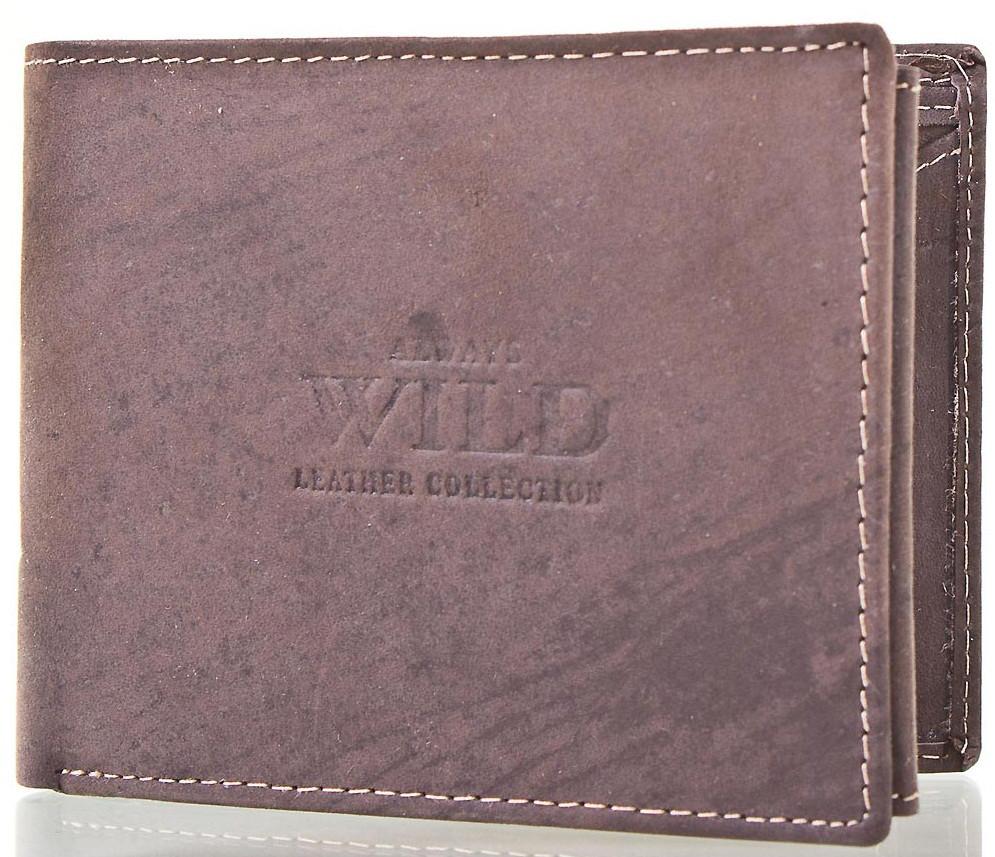 Кошелек мужской кожаный ALWAYS WILD DNKN992-MHU-brown, коричневый