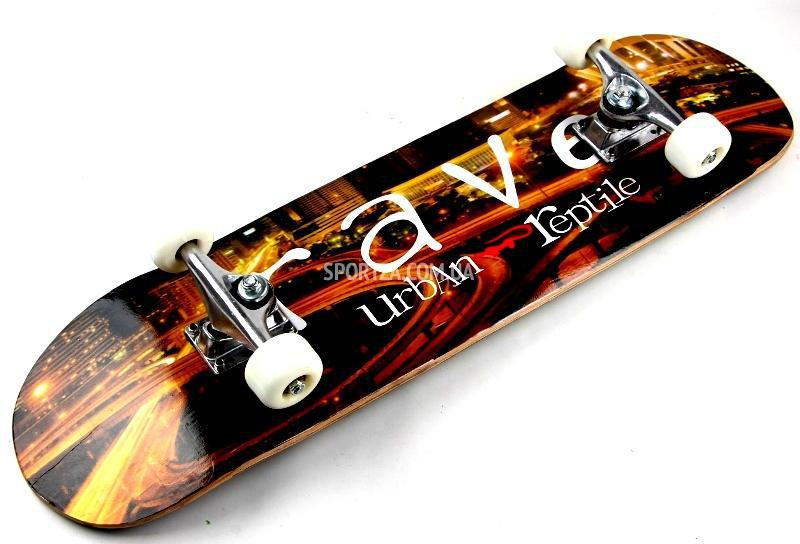 Самая дешевая цена в Украине на СкейтБорд деревянный , Скейт Оригинал Клен  Rave Style, купить 19f44e037c8