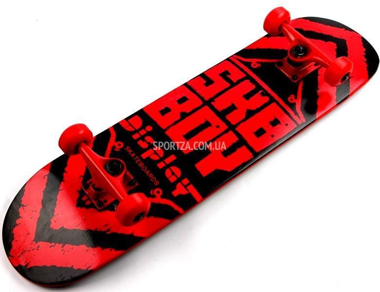 Купить деревяный СкейтБорд Display Sky Boy Канадский Клен Red с качественным наждачным верхом и оригинальным принтом , фото 1