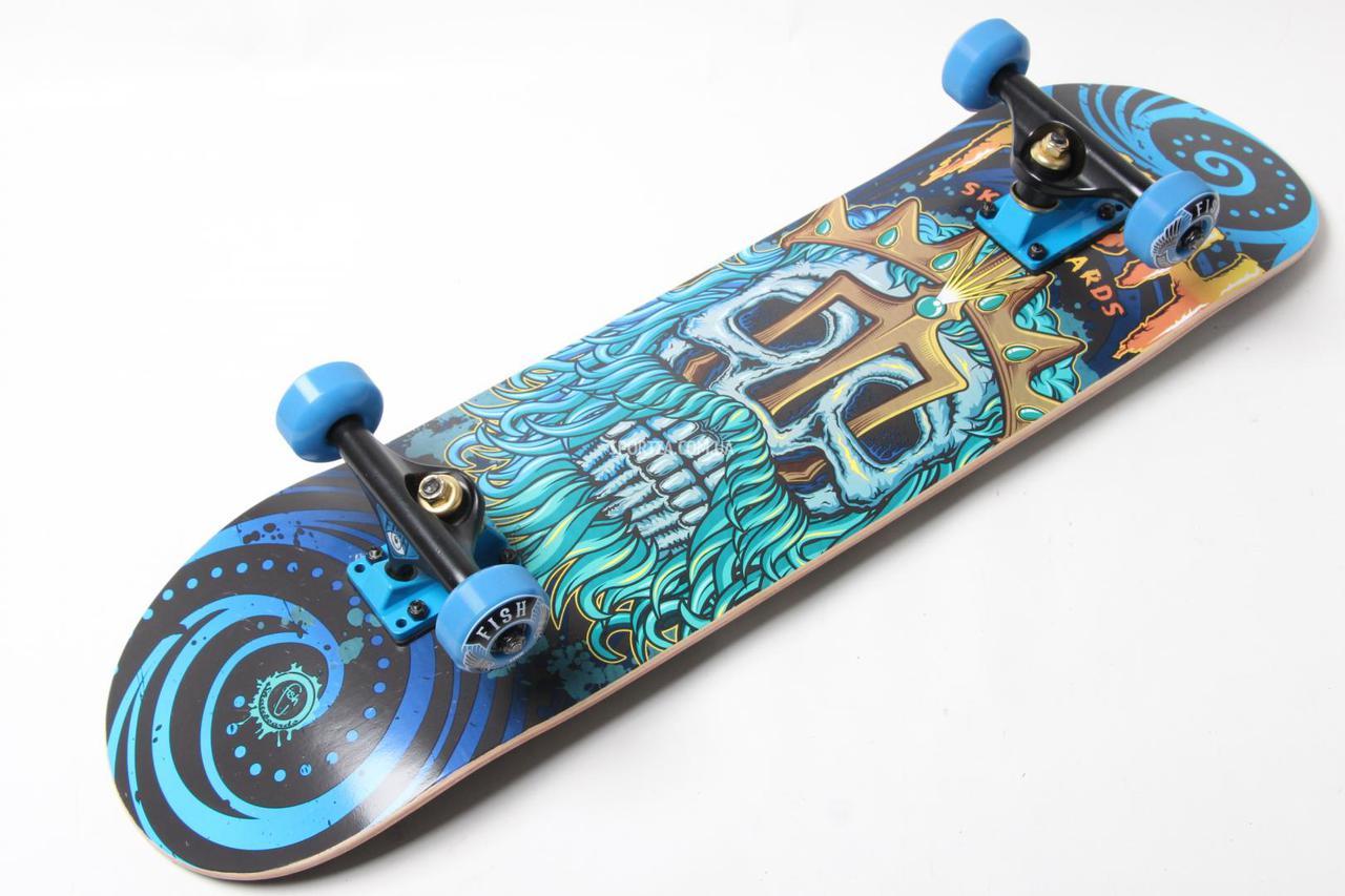 Скейт деревянный от Fish Skateboard скейтборд Нептун Канадский клен , фото 1
