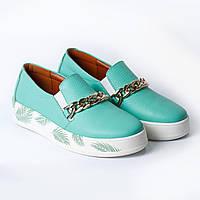 Туфли бирюзовые / цепочка, фото 1
