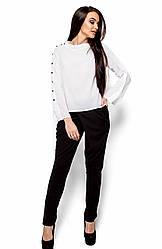 Женская белая блузка, р.42-48