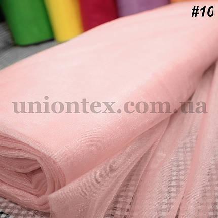 Фатин средней жесткости Kristal tul светло-розовый, ширина 3м, фото 2