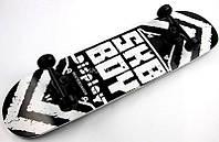 Купить деревяный СкейтБорд Display Sky Boy Канадский Клен Black White с очень качественным наждачным покрытием