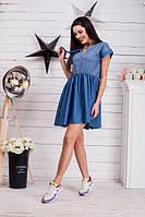 Женское летнее джинсовое платье