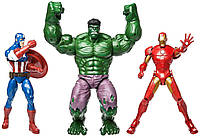 """Супер большой набор из трех фигурок Супергероев """"Мстители Марвел"""" от Disney, фото 1"""