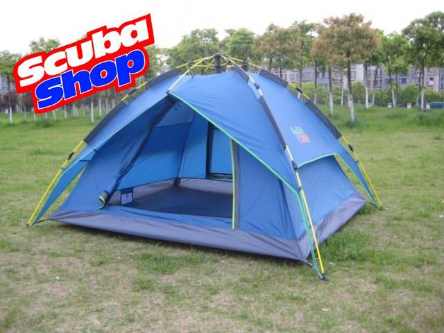 Палатка трехместная Green Camp 1831, двухслойная (размеры 225х190х130 см)