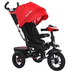 Bелосипед трехколесный Best Trike 6088 F - 1870 с надувными колесами Красный 65685