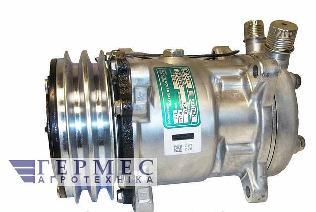 Компрессор кондиционера 5Н14 универсальный, 12V  SD5H14, фото 2