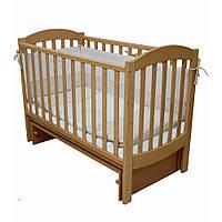 Детская кроватка Соня ЛД10 маятник без ящика  Бук Верес (10.1.60.1.01)