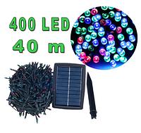 Светодиодная гирлянда на солнечной энергии 400 led RGB 40м, фото 1