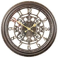 Часы настенные с заклепками 35,5 см 135A/black