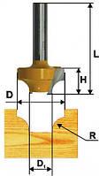Фреза пазовая фасонная ф25.4х14, r6.35, хв.8мм (арт.9291)