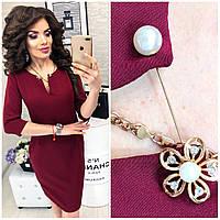 Платье женское, модель 805,  цвет Марсала