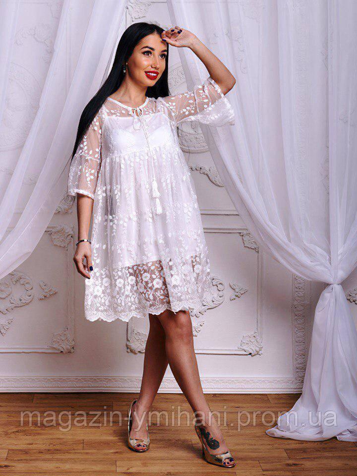 3c60729bdde Легкое белое летнее платье.  продажа