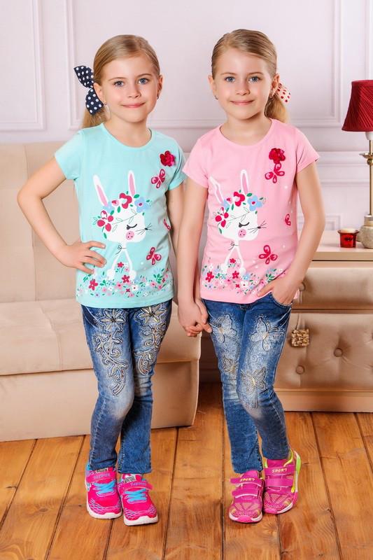 Трикотажная футболка Заинька (98, 104,110, 116 см) Турция