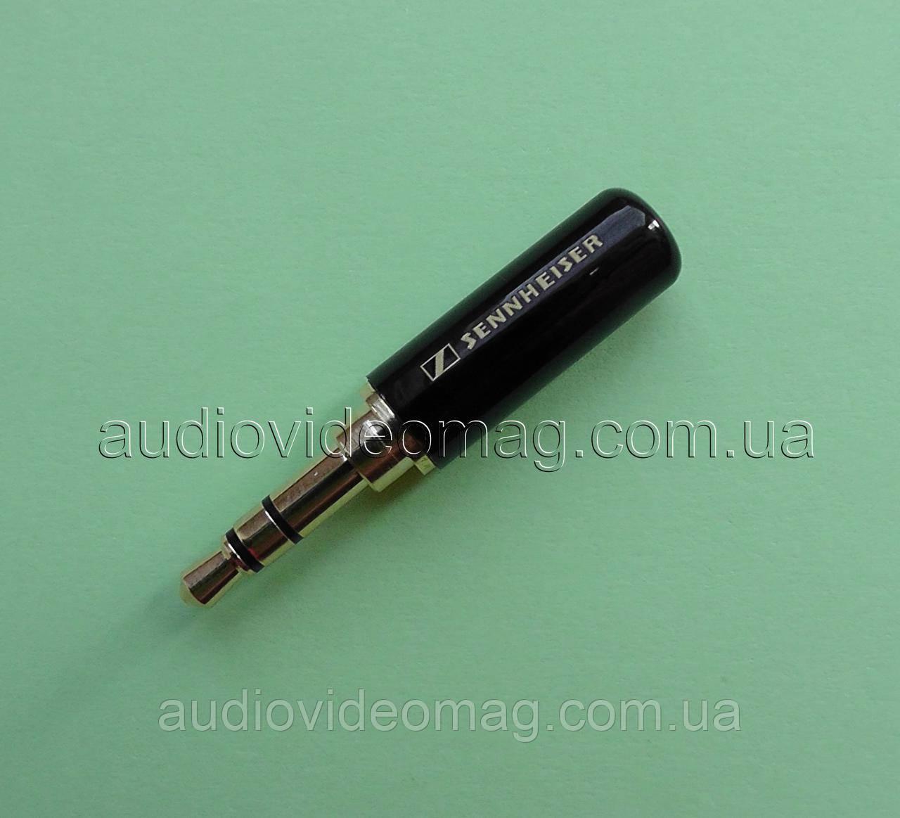 Штекер стерео 3.5 Sennheiser металлический, цвет черный