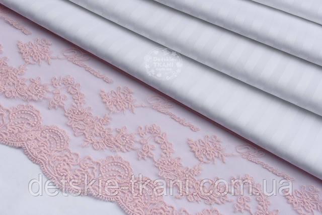 страйп сатин белого цвета