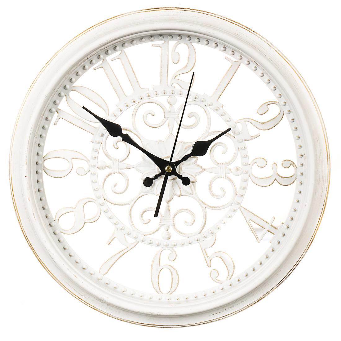 Часы настенные пластик 35,5 см (069A/white)