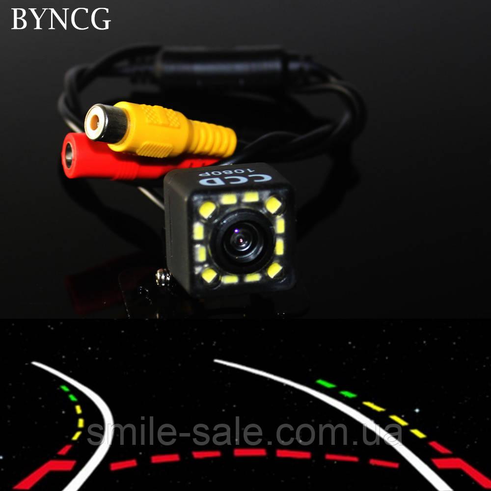 Камера заднего вида HD 103 с LED подсветкой и меняющейся траекторией линий! НОВИНКА!
