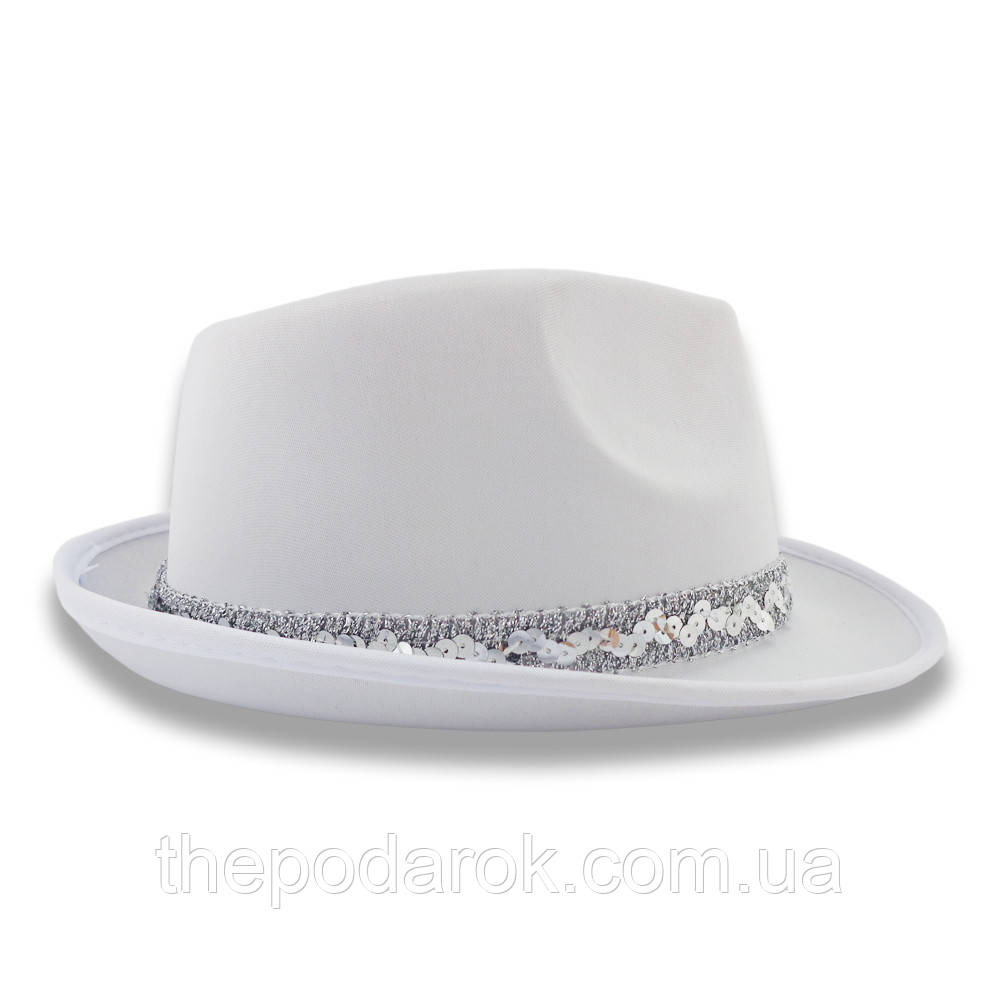 Шляпа Твист атласная (белая)