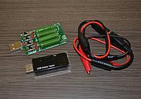 Набор: USB LCD тестер J7-t + нагрузка 4А + USB провода с крокодилами