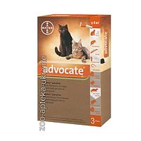 Капли Advocate (Адвокат) от блох и клещей для кошек весом до 4 кг №3 (3 пипетки по 0,4 мл)