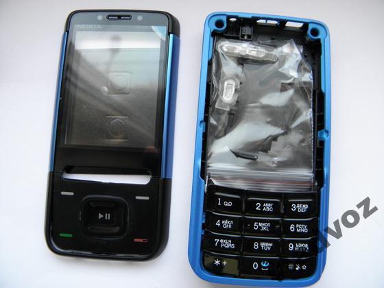 Корпус для Nokia 5610 синий с кнопкам class AAA