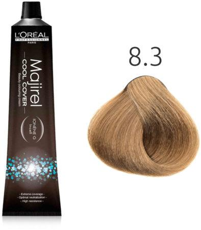 Cтойкая крем-краска для волос 50 мл L'Oreal Professionnel Majirel Cool Cover СС 8.3 светлый блондин зол