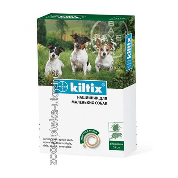 Ошейник KILTIX (Килтикс) для собак от блох и клещей 35 см