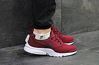 Мужские кроссовки Nike Air Presto Fly Uncaged, бордовые, из сетки  (Реплика)