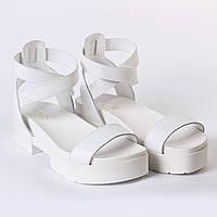 Босоножки белые стильные, фото 1