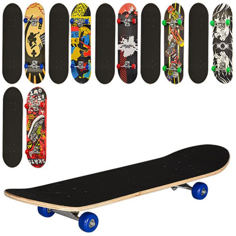 Скейт детский 78 х 20 см, алюминиевая подвеска, колеса пвх, 7 слоев, MS 0322 - 2