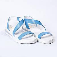 Босоножки кожаные / голубые, фото 1