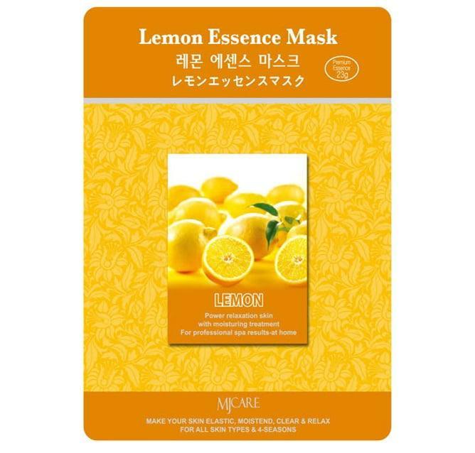 Маска для лица осветляющая с лимоном MJ CARE Lemon Essence Mask - 23 г
