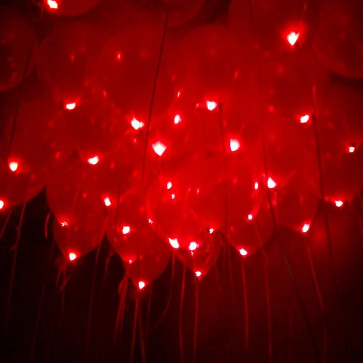 Шар светящийся красный