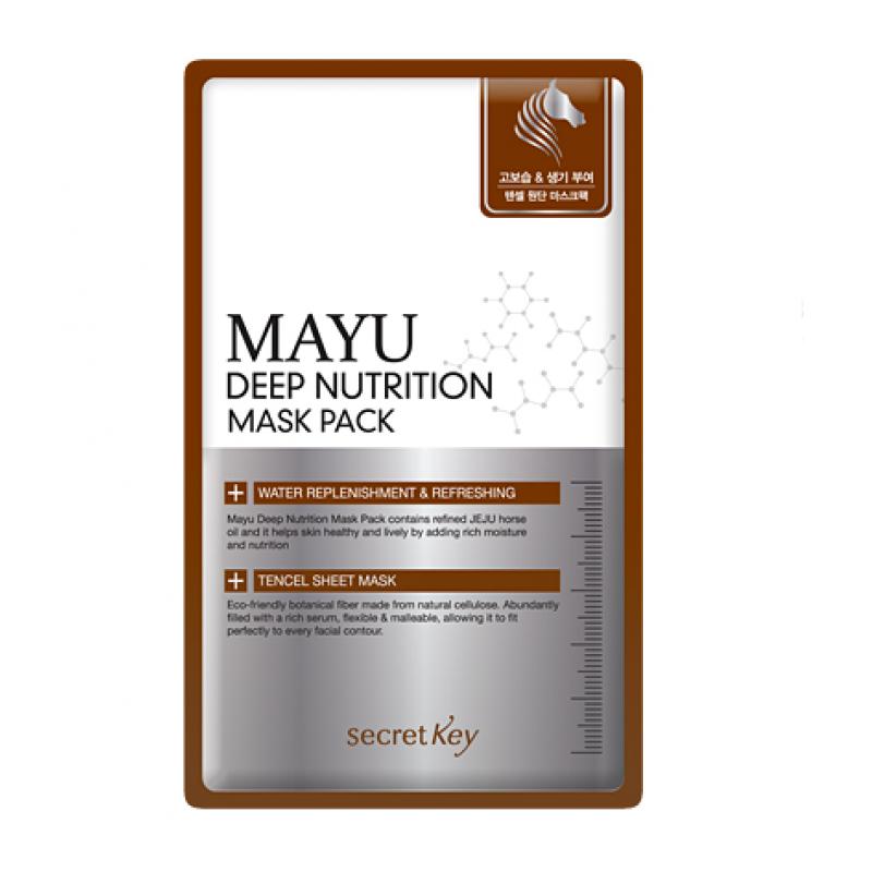 Маска для лица с конским жиром питательная Secret Key Mayu Deep Nutrition Mask Pack - 20 г
