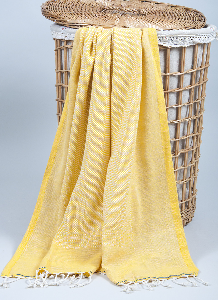 Полотенце-пештемаль пляжное Tan 100х175 желтый Barine