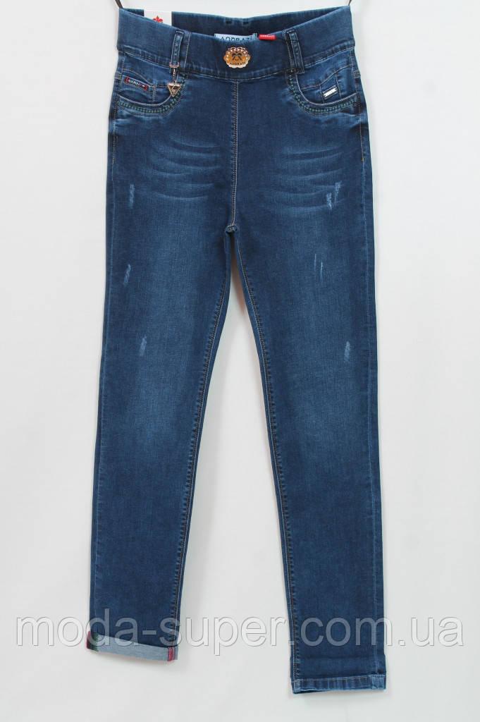 Турецкие джинсы классического синего цвета с украшением,рр 48-54