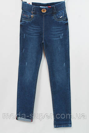 Турецкие джинсы классического синего цвета с украшением,рр 48-54, фото 2