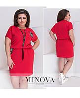 Платье спортивного стиля с карманами большого размера ТМ Minova р.48-60